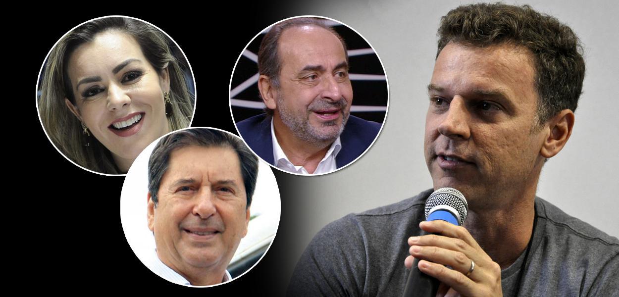 Cinthia Ribeiro, Maguito Vilela, Alexandre Kalil e Eduardo Moreira