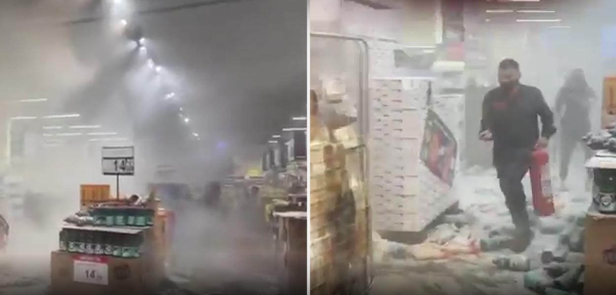 Fogo no Carrefour