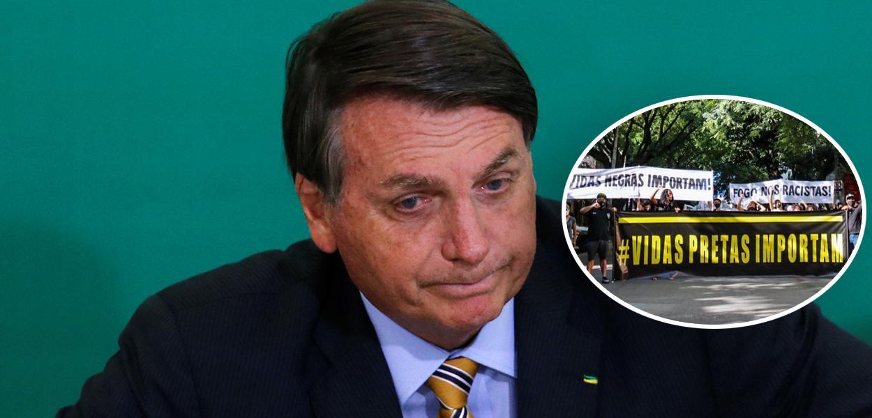 Jair Bolsonaro e manifestação contra o racismo