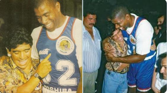 Maradona e Magic Johnson
