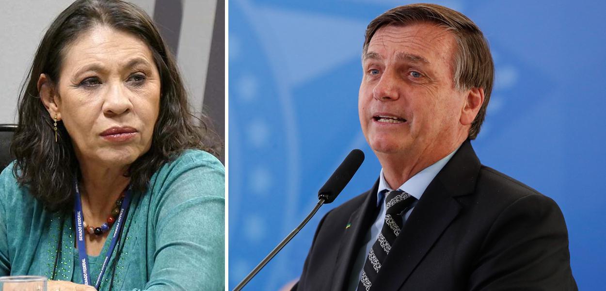 Tereza Cruvinel e Jair Bolsonaro