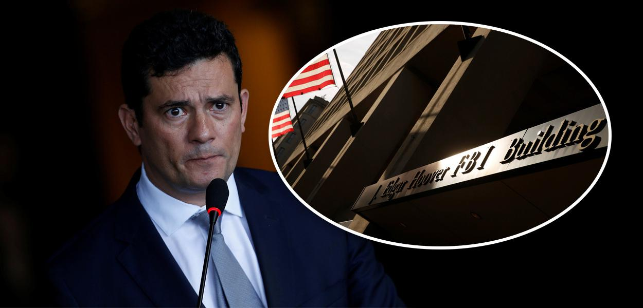 Sergio Moro e fachada do FBI