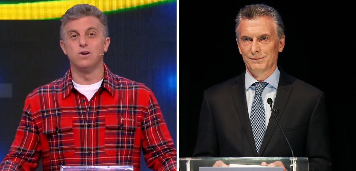 Luciano Huck e Mauricio Macri