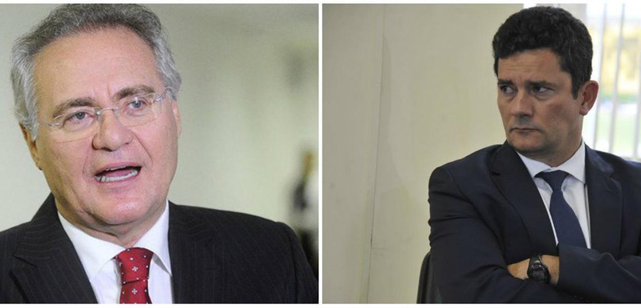 Renan Calheiros e Sérgio Moro