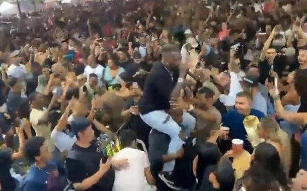 Show de Djonga causa aglomeração; Foto/Reprodução/Twitter