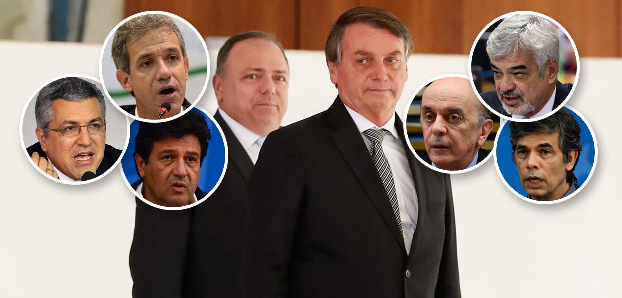 Alexandre Padilha, Arthur Chioro, Luiz Henrique Mandetta, Pazuello com Bolsonaro, José Serra, Humberto Costa e Nelson Teich