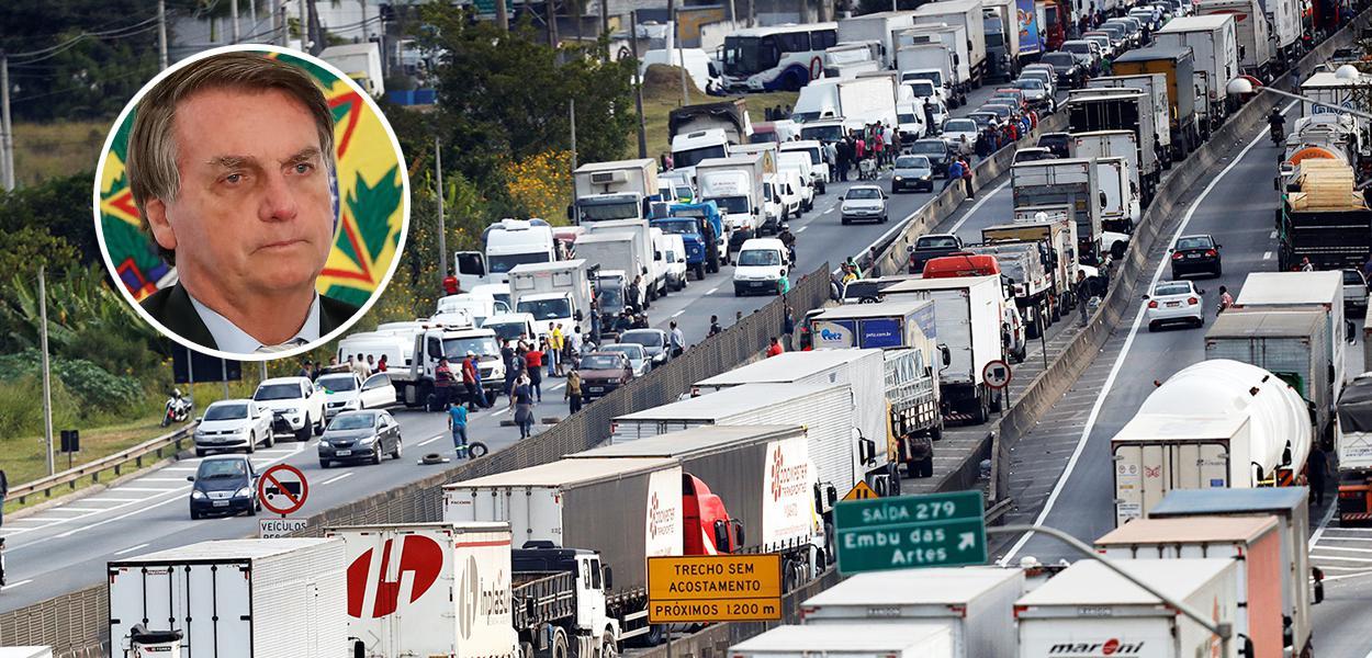 Bolsonaro e greve dos caminhoneiros em maio de 2018