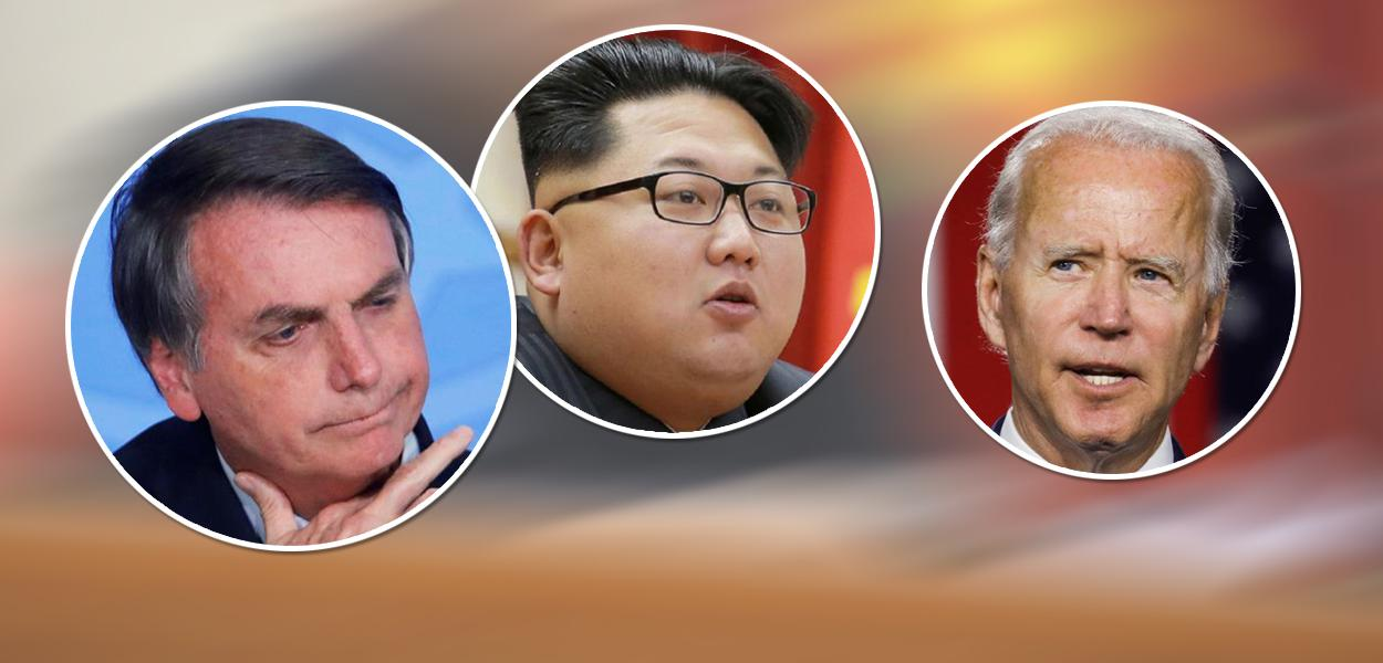 Bolsonaro, Kin Kim Jong-un e Joe Biden