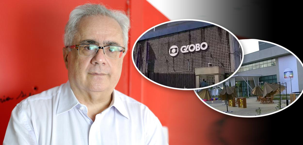 Luis Nassif e fachadas da Globo