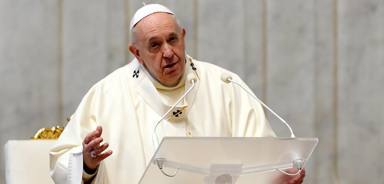 Papa Francisco durante missa no Vaticano