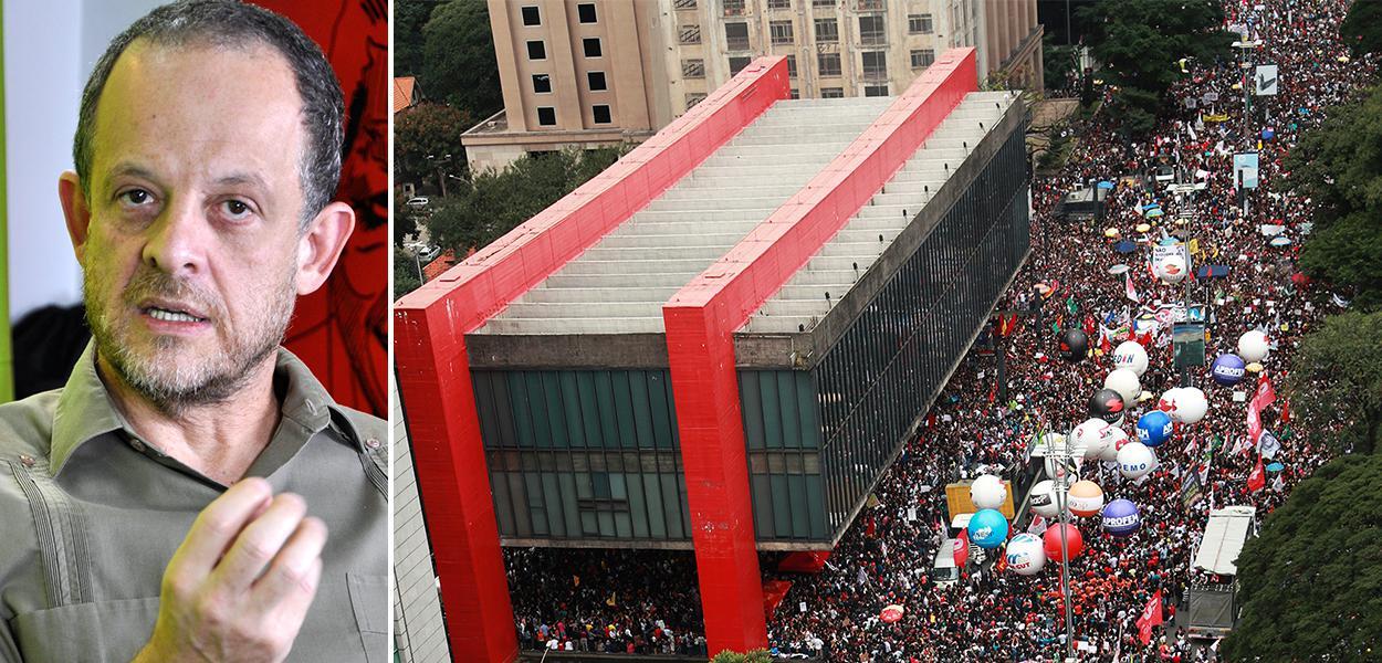 Breno Altman e manifestação da esquerda na avenida Paulista