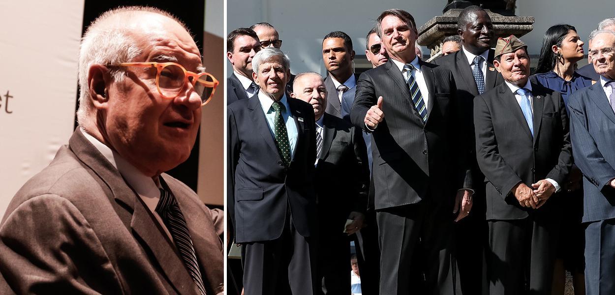 Elio Gaspari e Bolsonaro com militares
