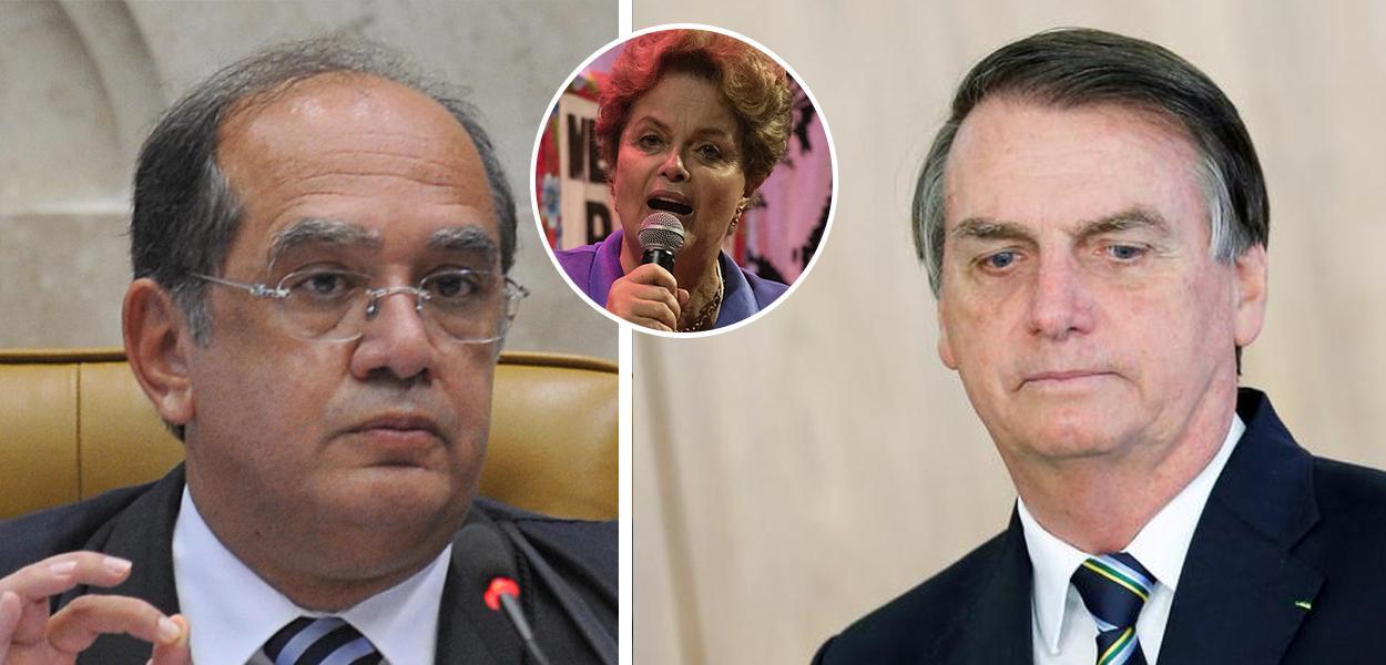 Gilmar Mendes, Dilma Rousseff e Jair Bolsonaro