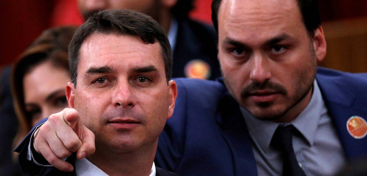 Flávio e Carlos Bolsonaro