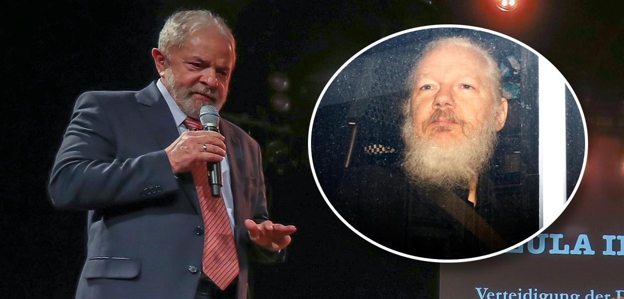 Lula e Julian Assange