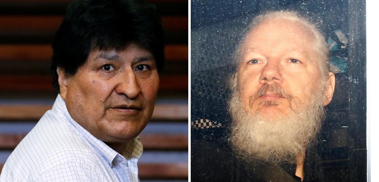 Evo Morales e Julian Assange