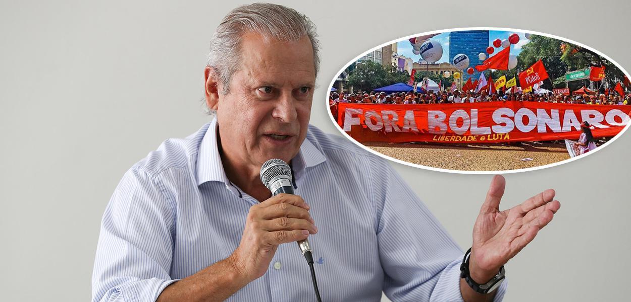 José Dirceu e manifestação 'Fora Bolsonaro'