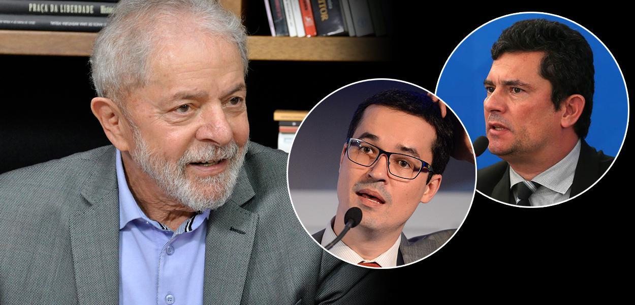 Lula, Sergio Moro e Deltan Dallagnol