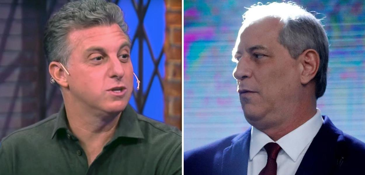 Luciano Huck e Ciro Gomes