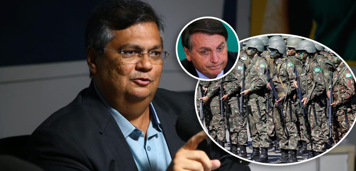 Flávio Dino, Bolsonaro e Forças Armadas