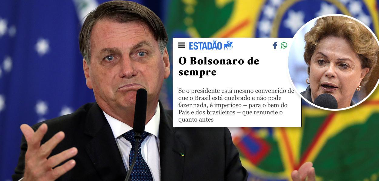 Jair Bolsonaro e Dilma Rousseff
