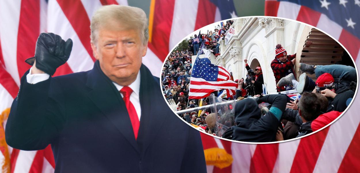 Donald Trump e invasão do Capitólio por apoiadores de Trump