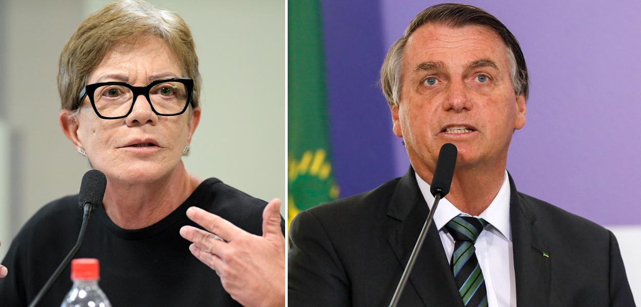 Deborah Duprat e Jair Bolsonaro