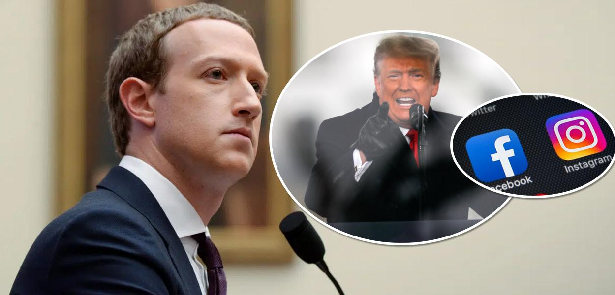 Mark Zuckerberg, Trump, Facebook e Instagram