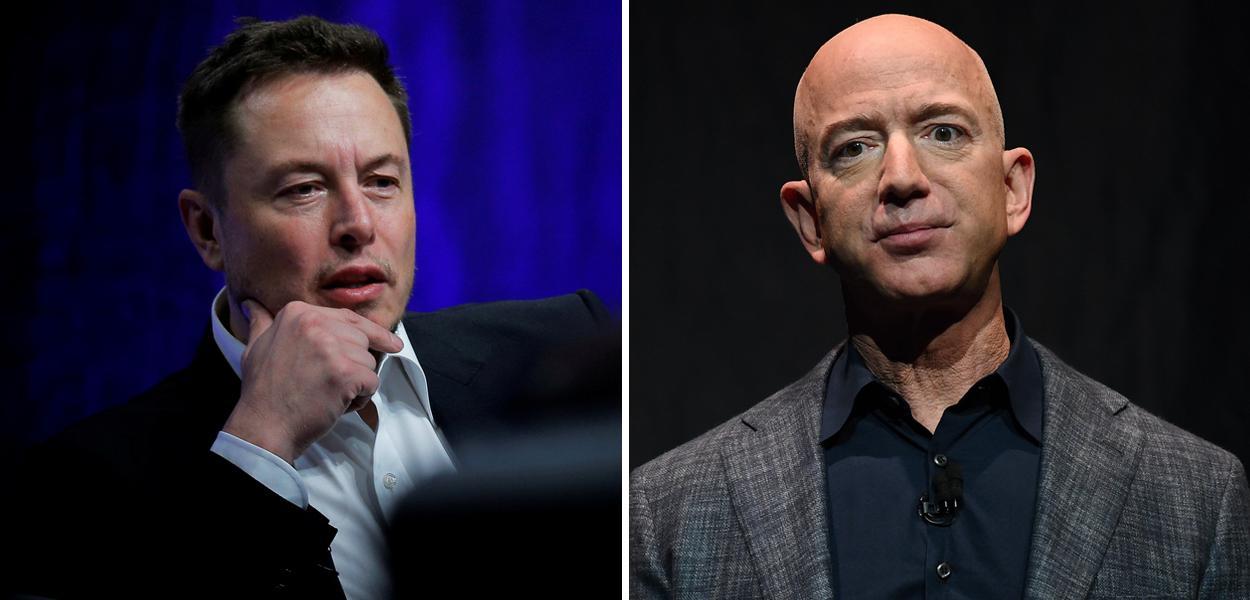 Elon Musk e Jeff Bezos