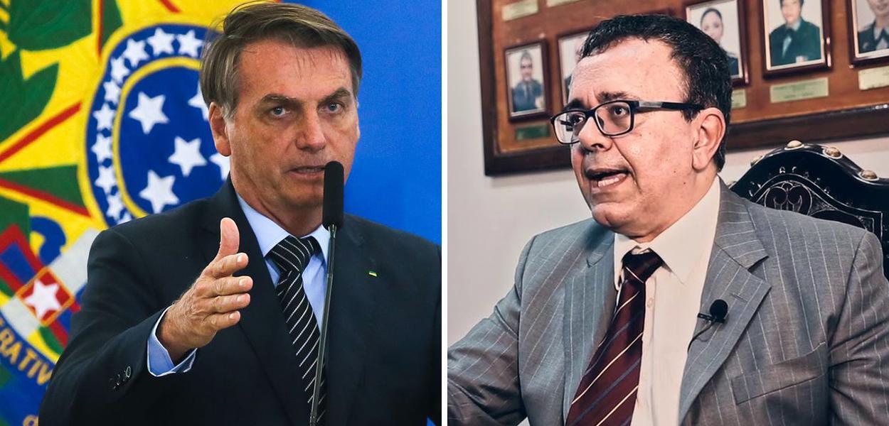 Jair Bolsonaro e o procurador Marcelo Rocha Monteiro