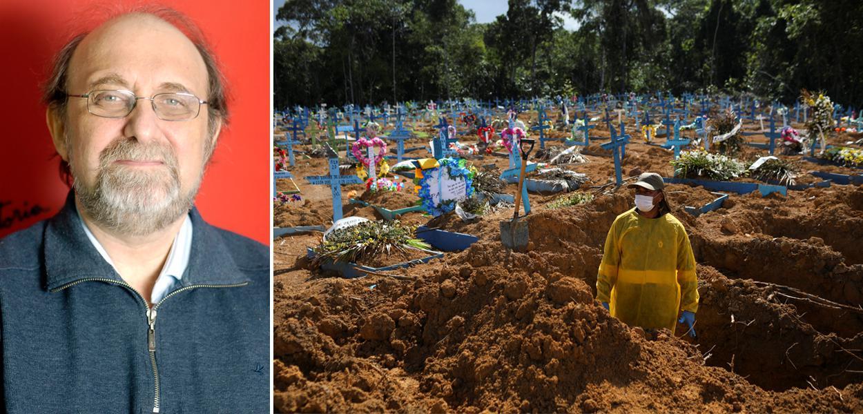 Miguel Nicolelis e cemitério em Manaus (AM) em meio à pandemia de coronavírus