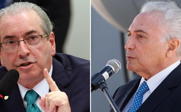 Eduardo Cunha e Michel Temer