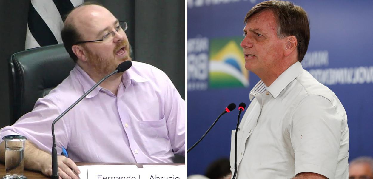 Fernando Luiz Abrucio e Jair Bolsonaro
