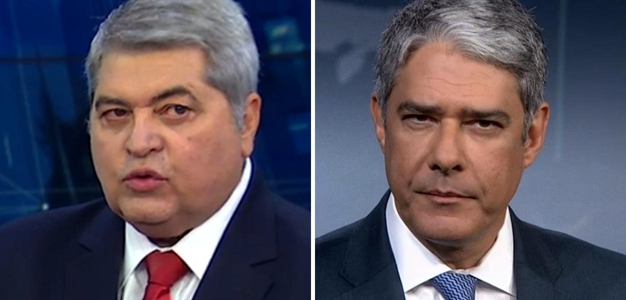 José Luiz Datena e William Bonner
