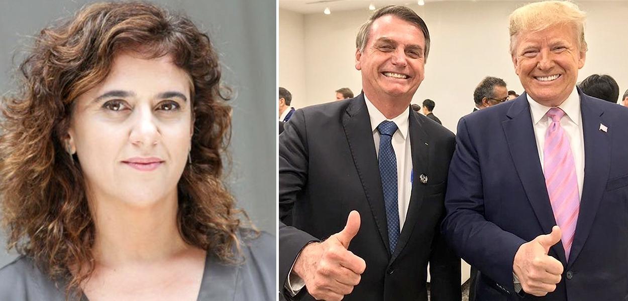 Tatiana Roque, Jair Bolsonaro e Donald Trump