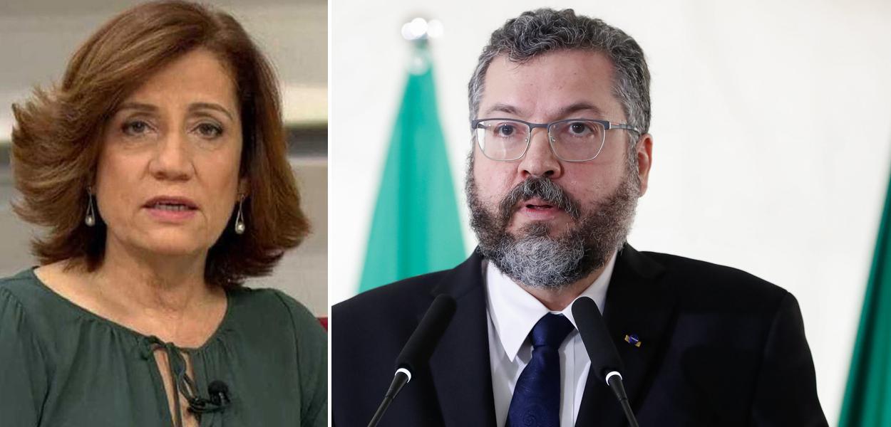 Miriam Leitão e Ernesto Araújo