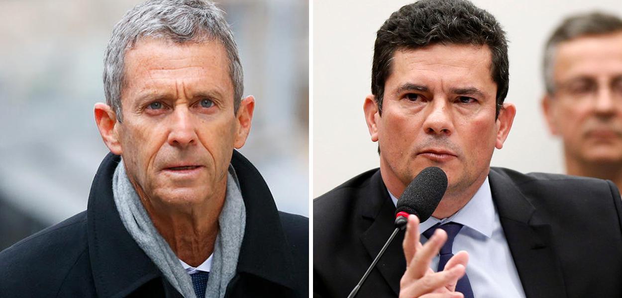 Beny Steinmetz e Sérgio Moro