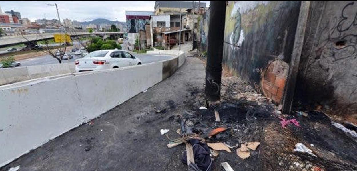 Corpo foi queimado na região da Lagoinha.
