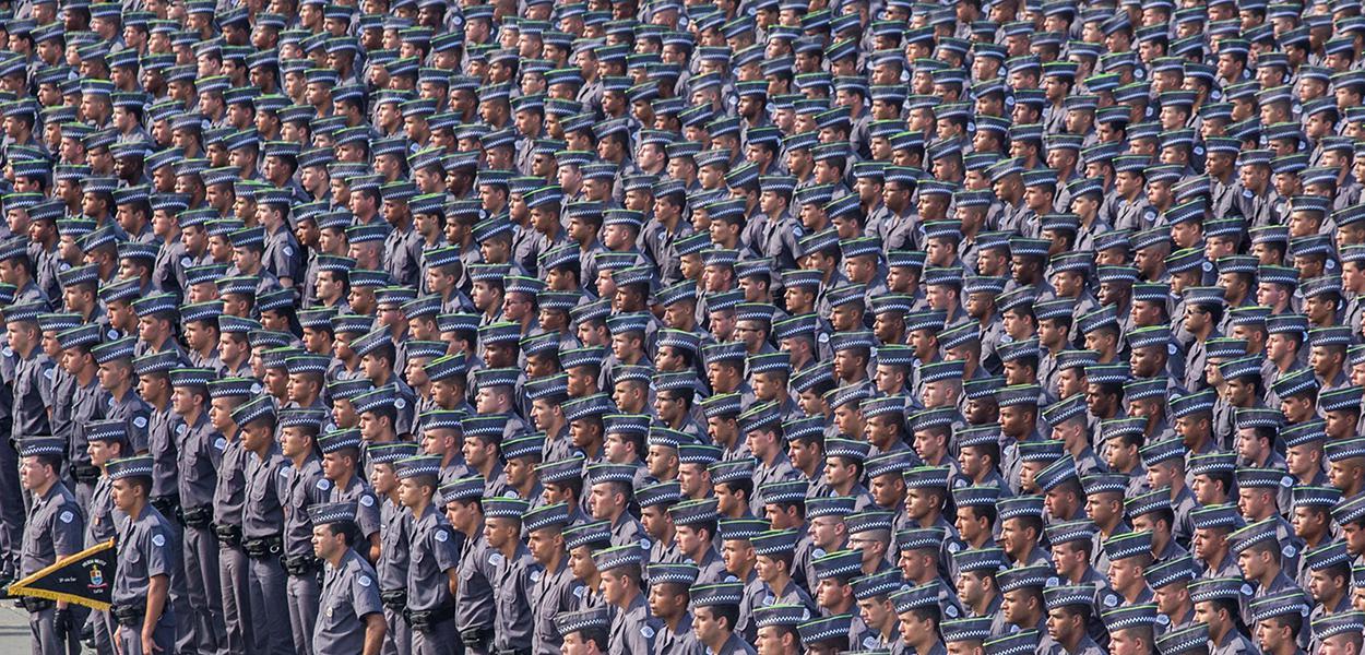 Formatura de Soldados da PM no Sambódromo do Anhembi. 27/05/2015