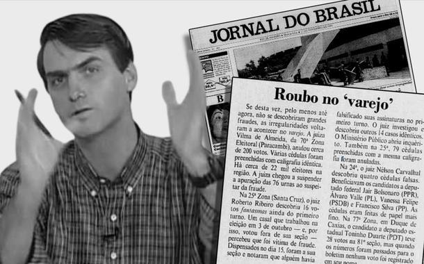 Crítico de urnas eletrônicas, Jair Bolsonaro seria beneficiado por fraude com cédulas de papel nas eleições de 1994