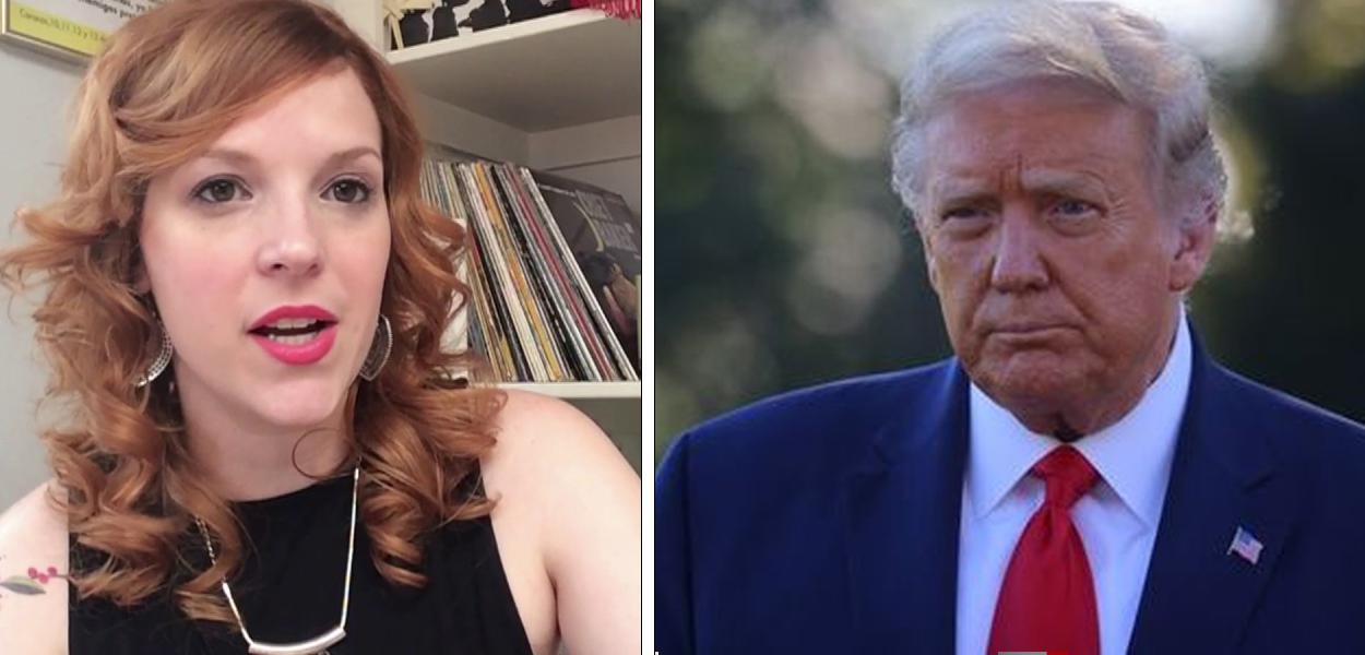Aline Piva e Donald Trump