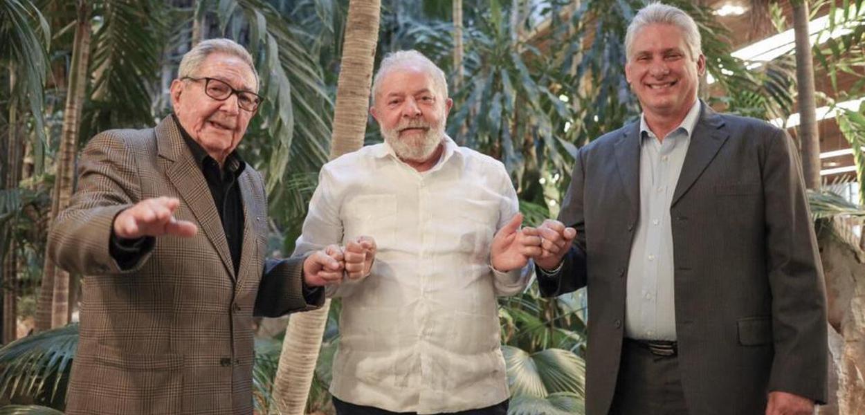 Raúl Castro, Lula e Miguel Díaz-Canel