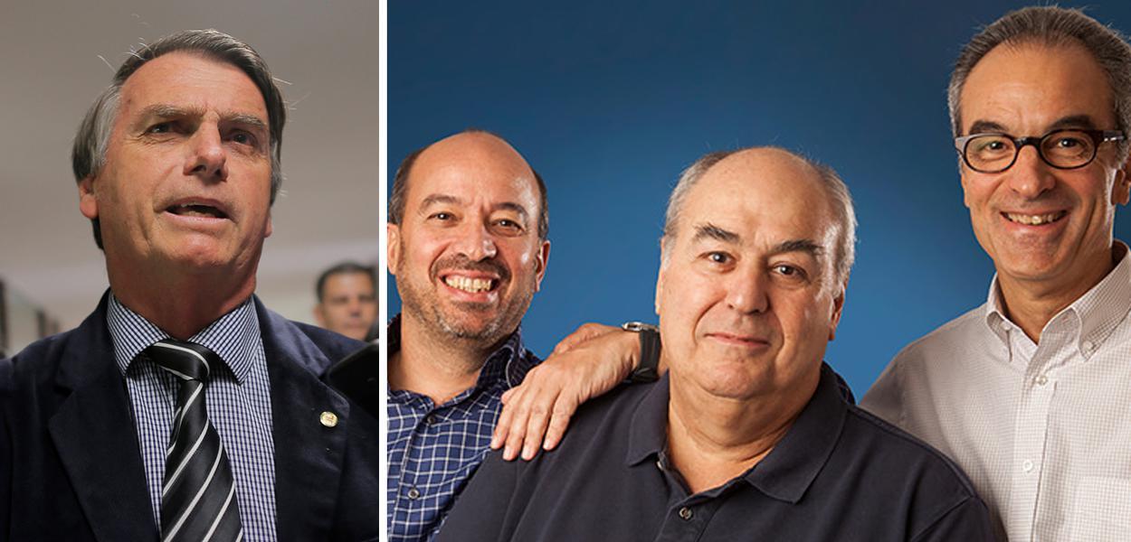 Jair Bolsonaro e a família Marinho