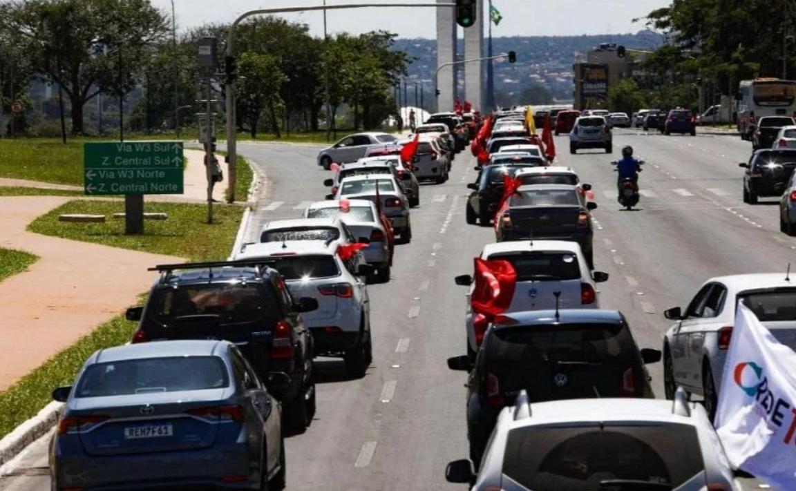 Carreata por Fora Bolsonaro em Brasília (23/01/2021)