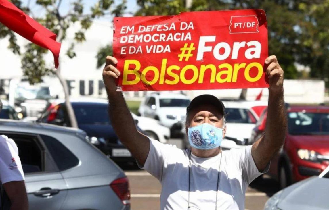 Carreata em Brasília pelo Fora Bolsonaro
