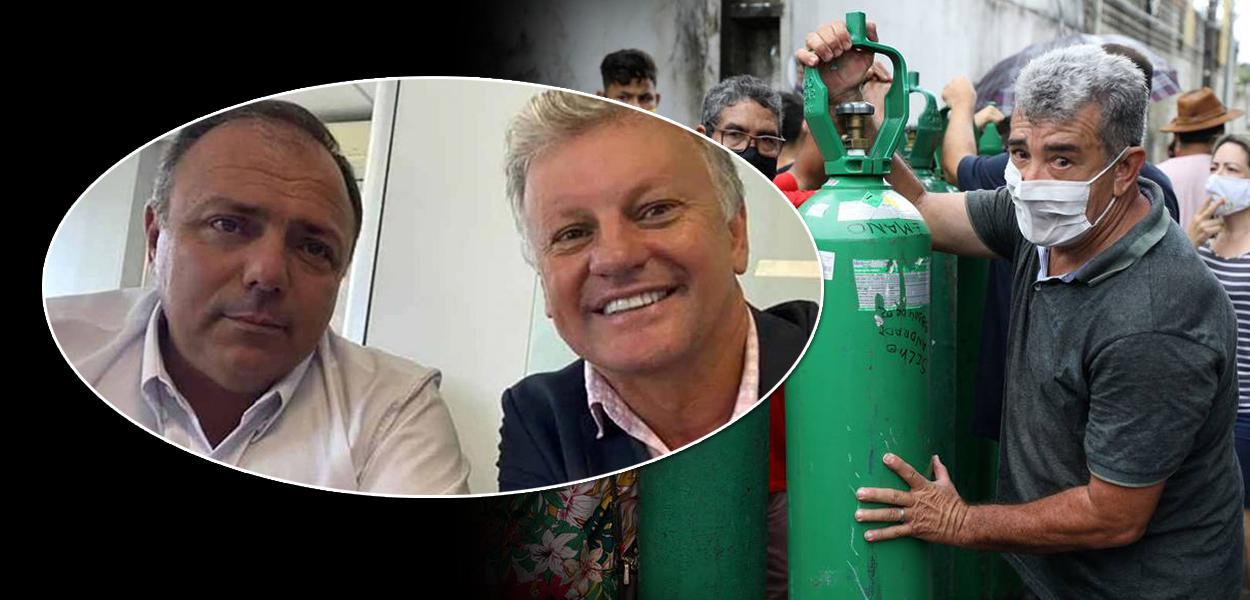 Ministro Eduardo Pazuello e o seu assessor especial, Aírton Antônio Soligo