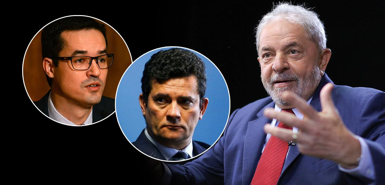 Deltan Dallagnol, Sérgio Moro e o ex-presidente Luiz Inácio Lula da Silva