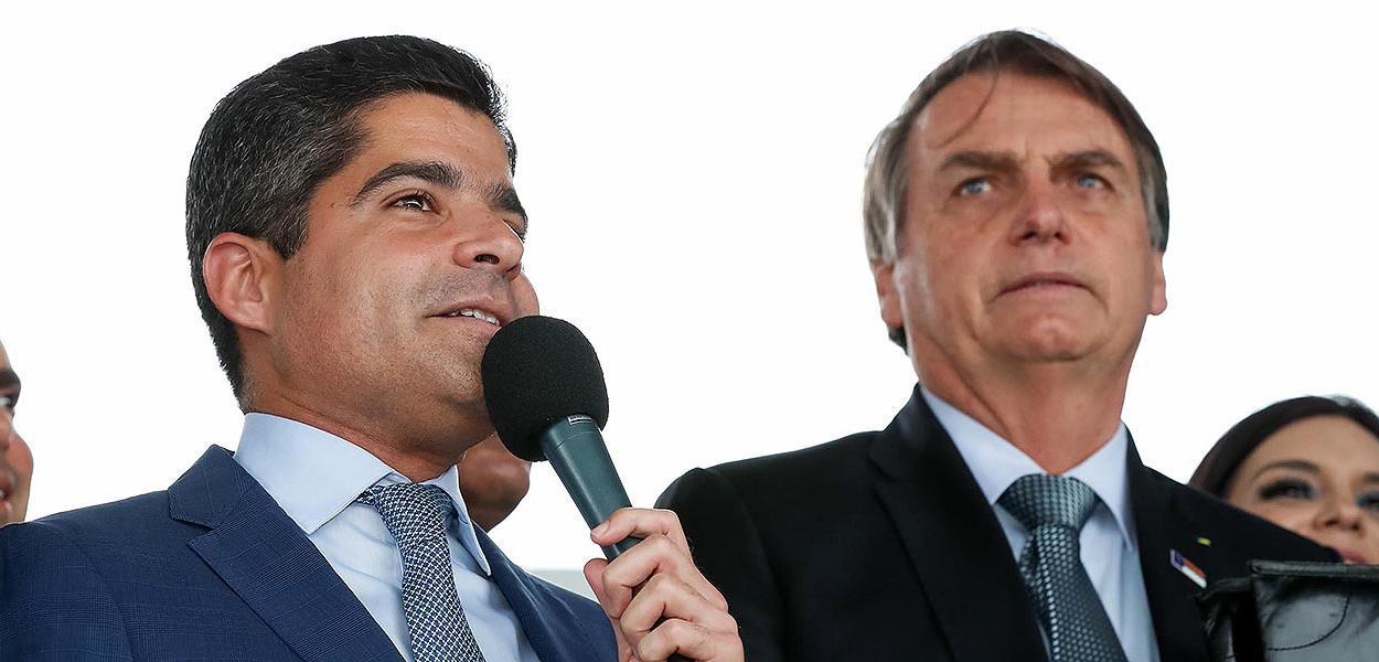 ACM Neto (DEM-BA) e Jair Bolsonaro (PSL-RJ)