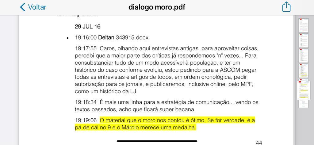 Diálogo Moro Dallagnol