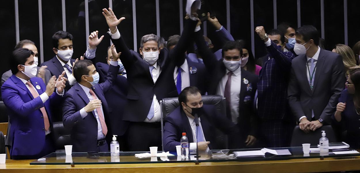 """""""Centrão"""" comemora eleição da Mesa da Câmara dos Deputados"""